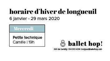 Horaire hiver 2020 Longueuil